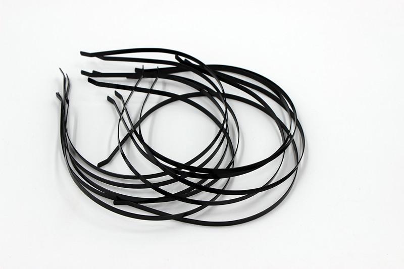 New Wholesale10 pcs Blank Plain Metal Headband 5mm Hair Band For Hair Accessories DIY Craft(China (Mainland))