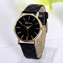 2015 New ArriveFashion Europe& US Geneva Watch Japan Movement Quartz Clock Fashion Luxury Leather Wristwatch Women Dress Watch