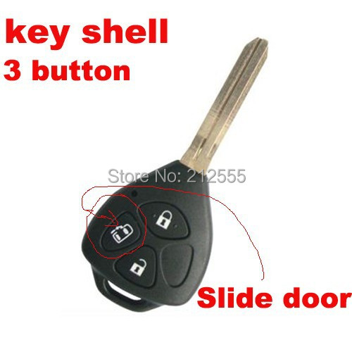 Remote Car Key Case for Toyota after 2006 Years Key Fob Cover Remote Keyless Entry Shell 3 Button (Toy43,Slider Door)(China (Mainland))