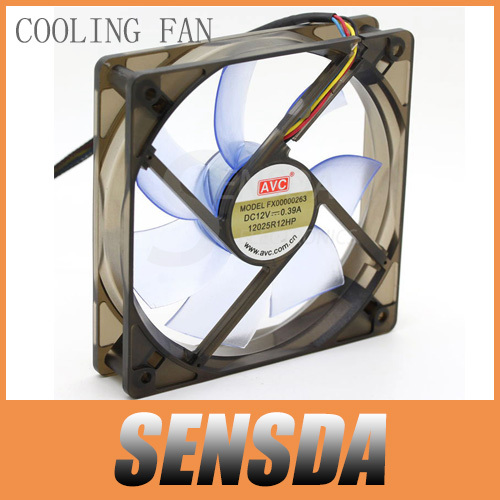 Free Shipping Wholesale AVC 12025 FX00000263 12025R12HP 120mm 12cm 12V 0.39A 4Wire Silent Computer Case Cooling cpu cooler Fans(China (Mainland))