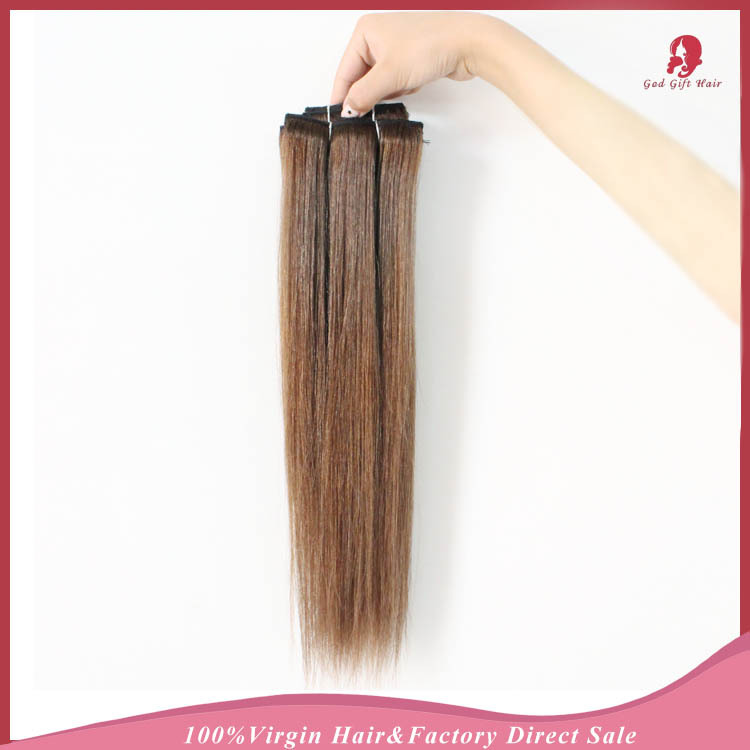Rosa Hair Products Mongolian #4 Remy hair straight 7A 80g 7pcs/Set top Full Head clip in human hair extensions aliexpress UK(China (Mainland))