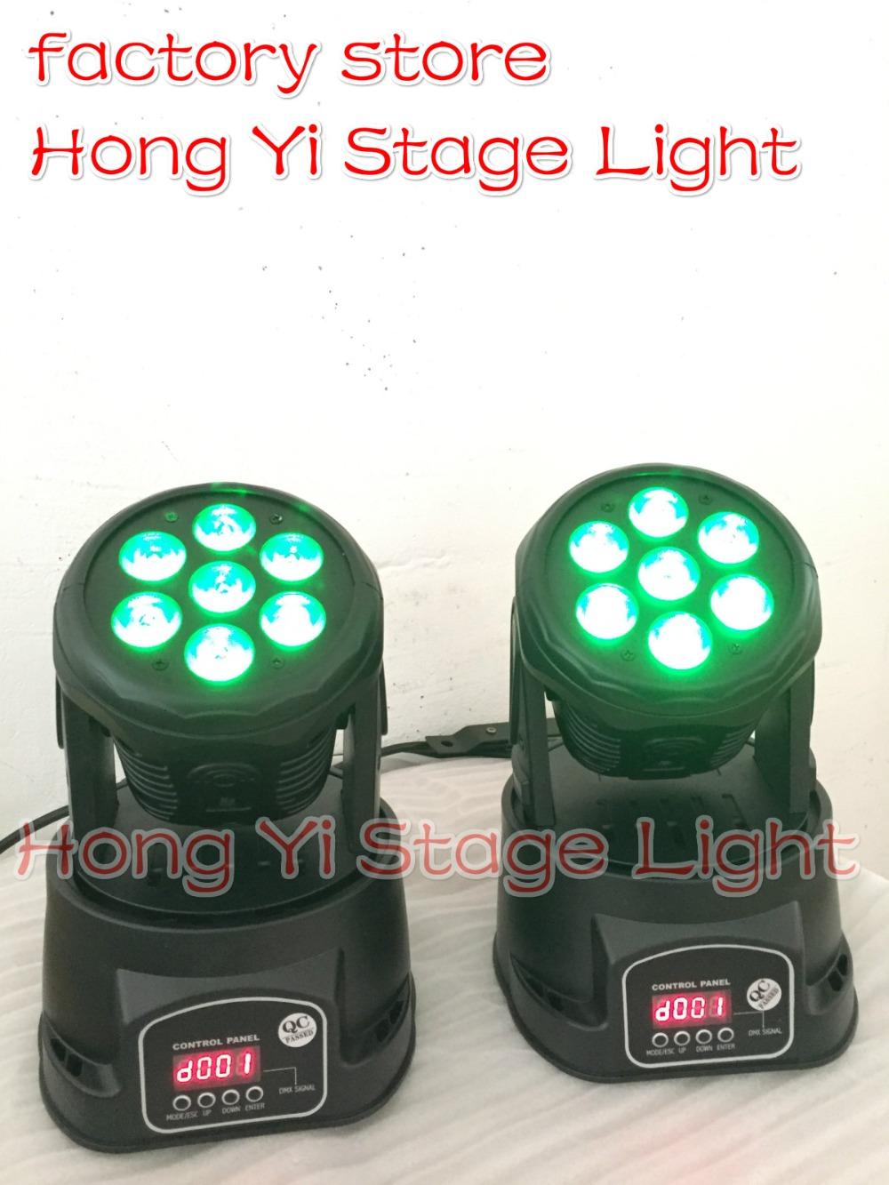 2015 Top Seling 2pcs/lot ;ed dmx wash 7X12W mini moving head High Brightness Moving Head Mini Wash Light,Factory free shipping(China (Mainland))
