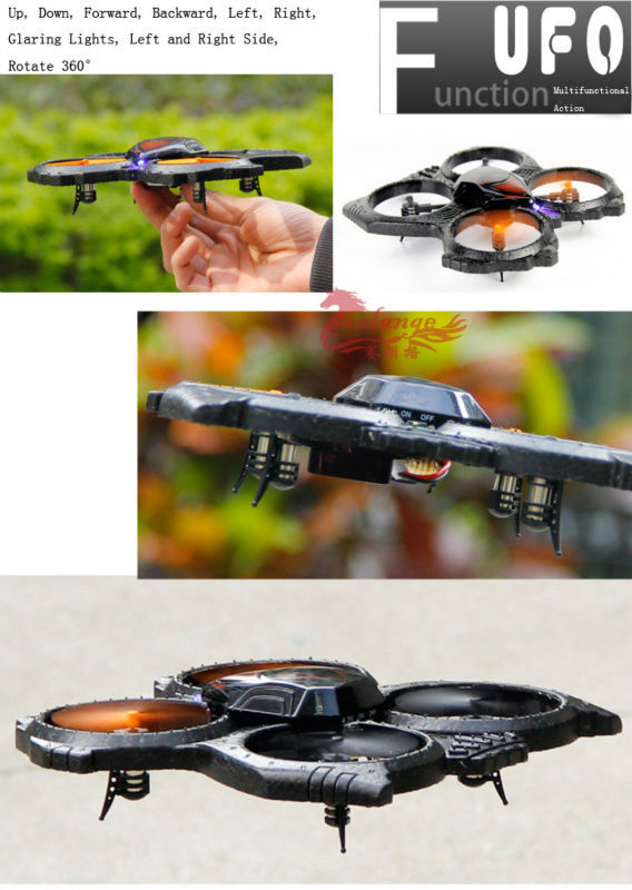 Free Shipping Hot UDI U818A 2.4Ghz UFO U816a RC Brushless Motor Quadcopter 4CH 6 Axis LED Large Radio Remote Control Helicopter(China (Mainland))