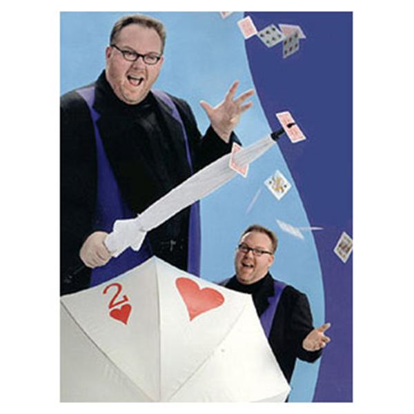Got It Covered,Umbrella Card Sword Stage Magic Tricks Umbrella Thru Card Magic Props Umbrella find card through poker 81128(China (Mainland))