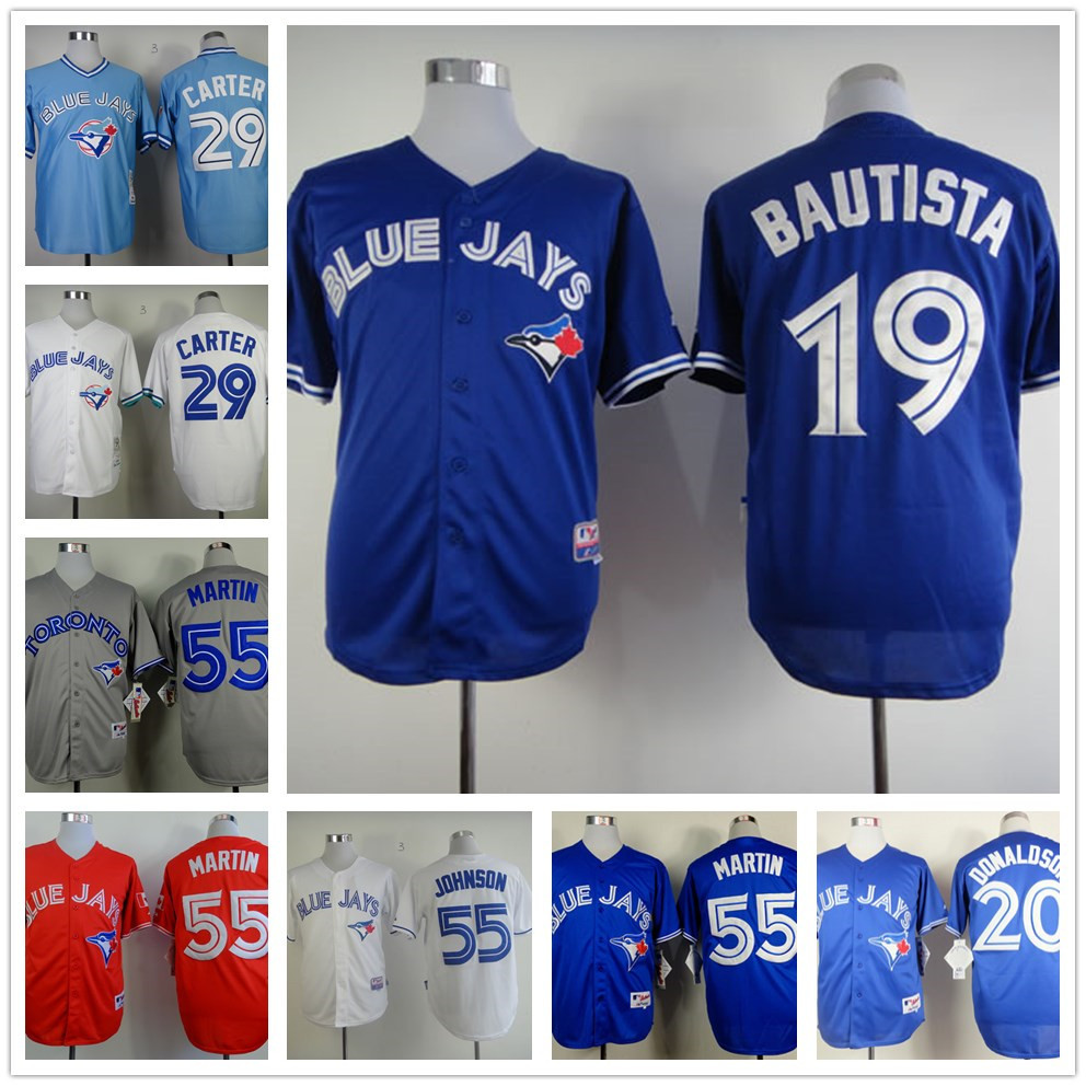 product Best Quakity Toronto Blue Jays jersey cheap Stitched #55 Russell Martin Jersey authentic #19 Jose Bautista jersey size M-XXXL
