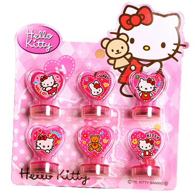 Hello Kitty Toys Elsa Anna Dolls Action Figure Toys For Boys Girls Kids Gifts Seal Stamper(China (Mainland))