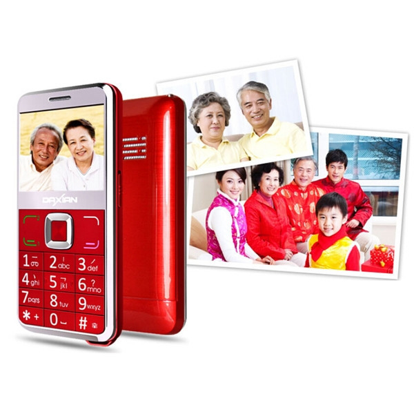 2.3'' Daxian GST 6000 SOS Old man Cell Phone GSM Dual Sim FM Mobile Phone For The Elders. Big Speaker Big Keyboard Safe Battery(China (Mainland))