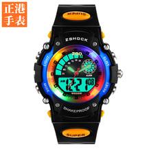 2015 nuevos relojes de los niños multifuncional luminoso tabla secundaria impermeable moda infantil reloj electrónico relojes del movimiento