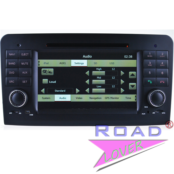 Car pc dvd gps navigation for Benz ML W164/X1642005 2006 2007/2008 2009 2010/2011/2012 radio video stereos Audio BT TV RDS AUX(China (Mainland))