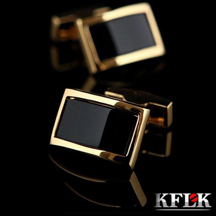 2017 KFLK Luxury shirt cufflinks for men's Brand cuff buttons Gold cuff links gemelos High Quality wedding abotoaduras Jewelry(China (Mainland))