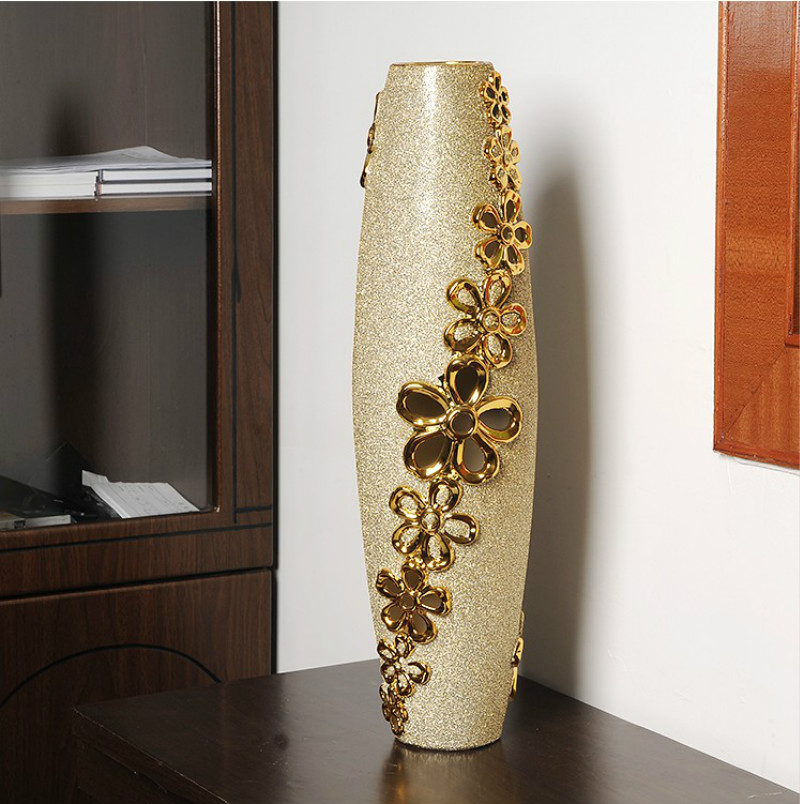 Large vases european style home decorations ceramic for Home decor vases
