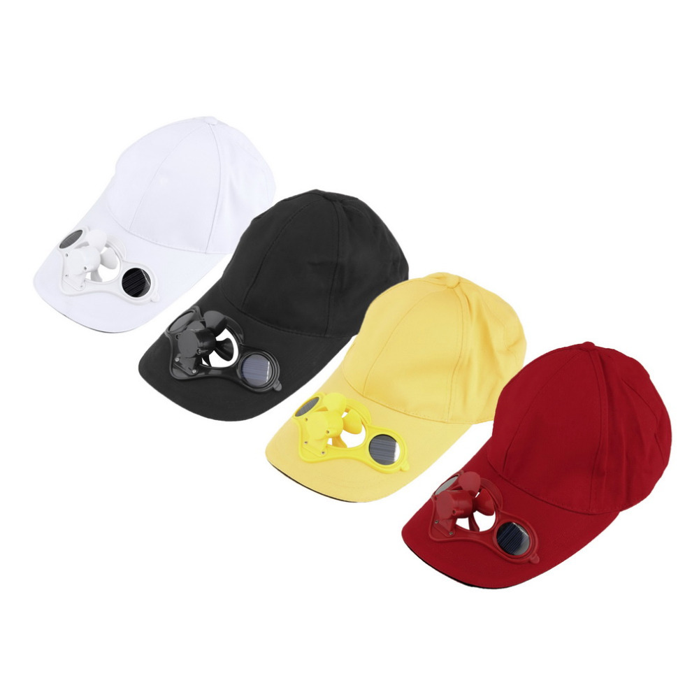 Outdoor Golf Baseball Sun Solar Power Hat Cap with Cooling FanHot Sale 2016 Fashion(China (Mainland))