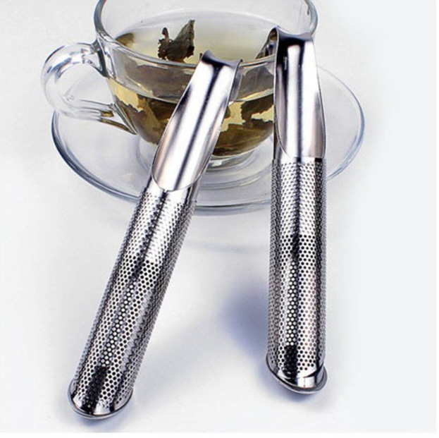 New 304 stainless steel tea Pipe-shaped tea filter dolce gusto Tea Infuser Pipe Design Touch Feel ferramentas green tea teapot(China (Mainland))