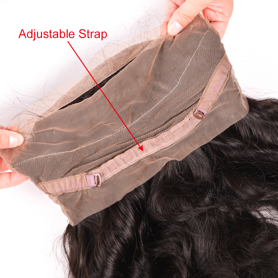 Wonder girl Pre Plucked 360 Lace Frontal Closure With Baby Hair Brazilian Straight Hair Remy Human Hair Bundles Free Shipping
