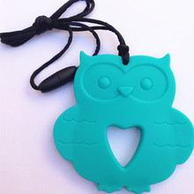 2015 Baby silicone owl teether for teething Nursing Necklace DIY Teething 100% Food grade Chewable Silicone Jewelry(China (Mainland))