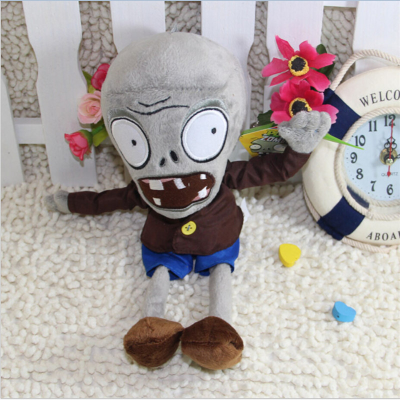 28cm wholesale plush toys zombie kids toys birthday gift Plants vs Zombies stuffed doll baby toys(China (Mainland))