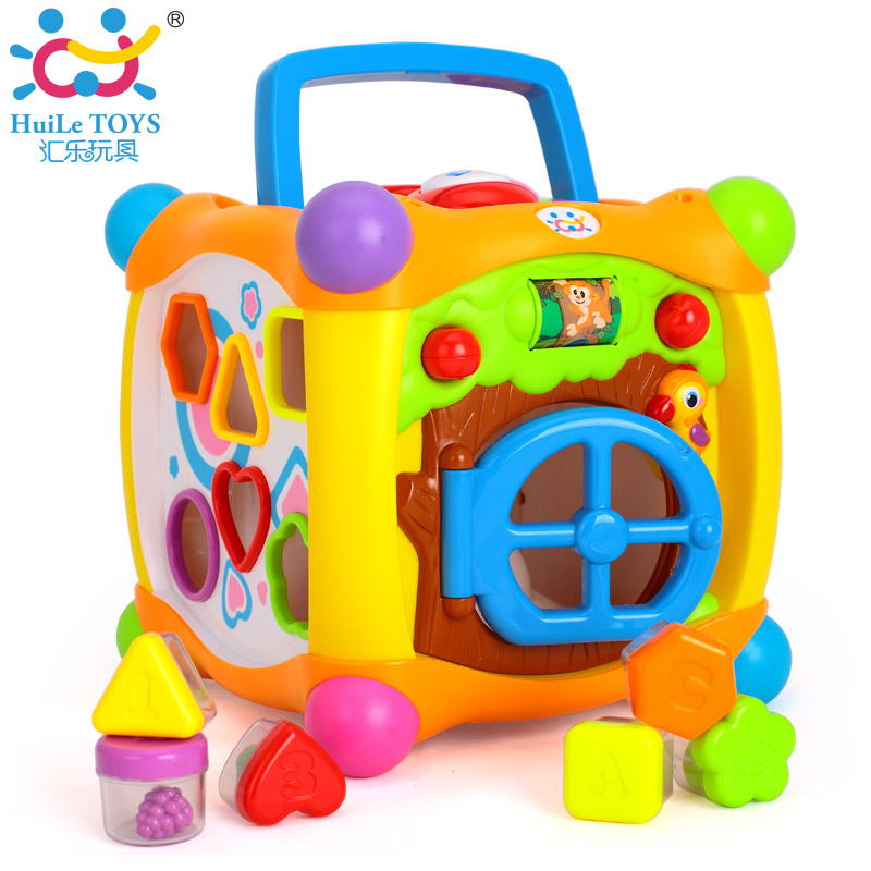 HUILE TOYS 936 Kids Activity Alphabet Cube Baby Play Toy 13 Stackable Blocks Learning Baby Infant Toddler Music Game Toys Gifts(China (Mainland))