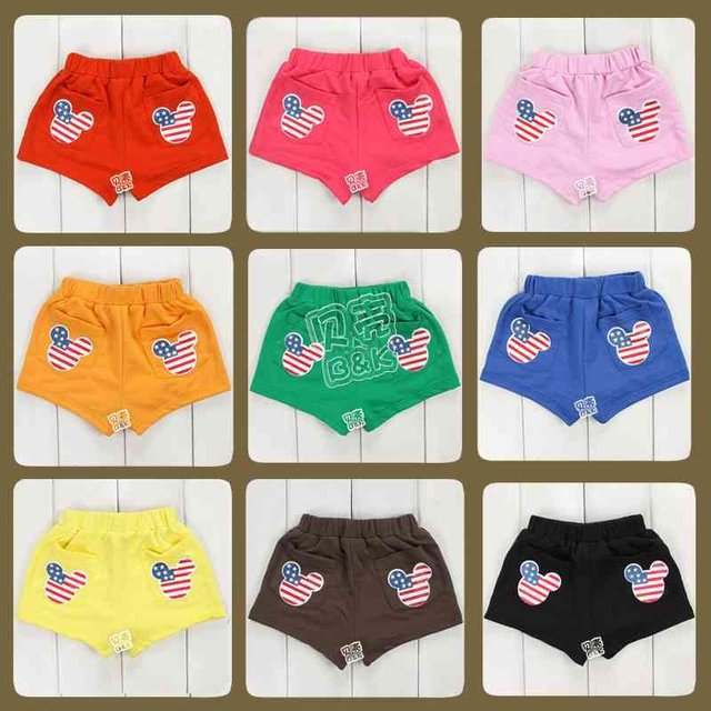 Specials 2012 Summer Korean candy cartoon avatar paragraph Boys Girls baby shorts kz - 0824