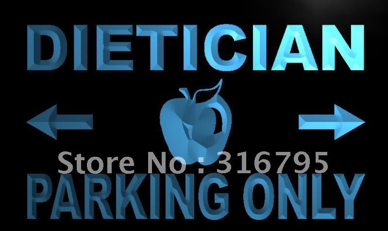 m271-b Dietician Parking Only LED Neon Light Sign(China (Mainland))