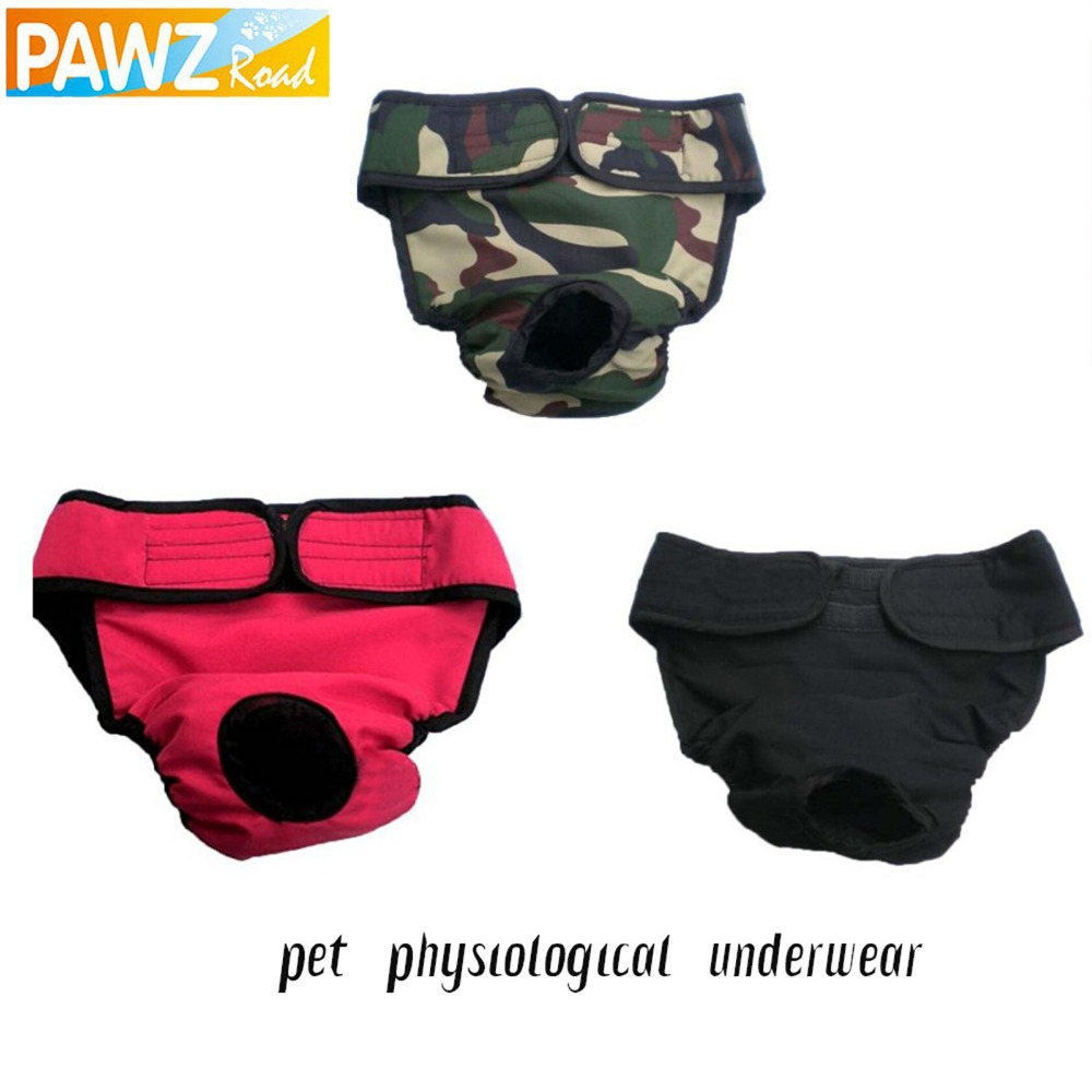 Free Shipping Pet Dog Menstruation Underwear New Female Pet Cute Pant Short Diaper 3 Colors L/XL Pet Supplies(China (Mainland))