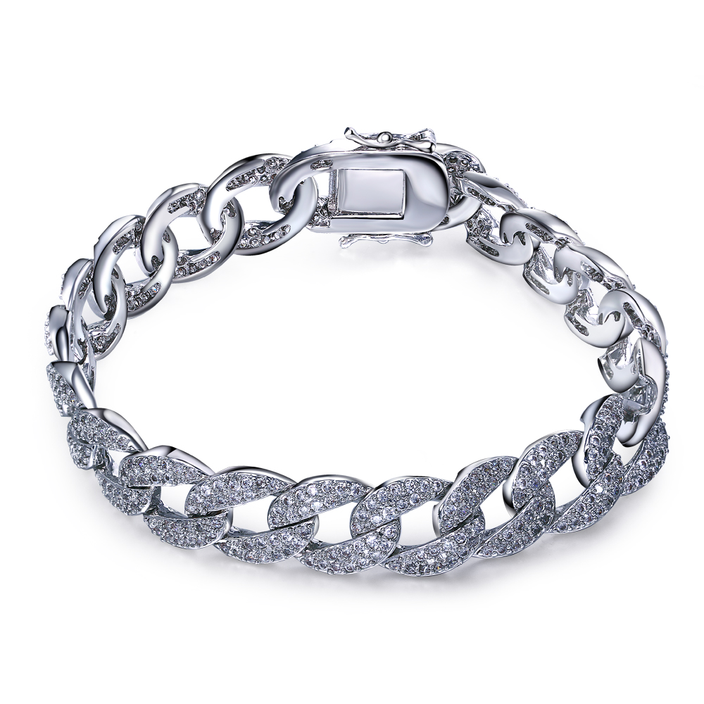 Fashion Bracelet rhodium plated with white cz charming bracelet romantic bracelets for women new design Free shipment(China (Mainland))