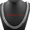 13 15 17mm 316L Stainless Steel Heavy Link Silver Curb Cuban Chain Men Necklace jewelry 7