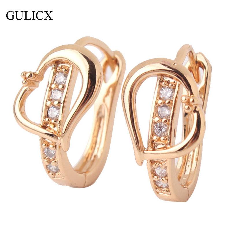 Серьги-кольца GULICX 18/cz E159