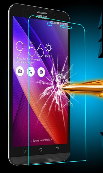 Amazing 9H 0.3mm 2.5D Nanometer Tempered Glass screen protector for Asus Zenfone 2 ZE550ML ZE551ML 5.5 inch