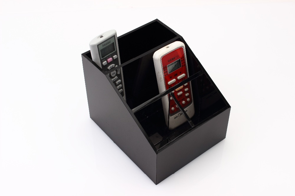 Free-Fhopping White Acrylic Storage Box Desktop Phone Remote Control Case Holder Storage(China (Mainland))