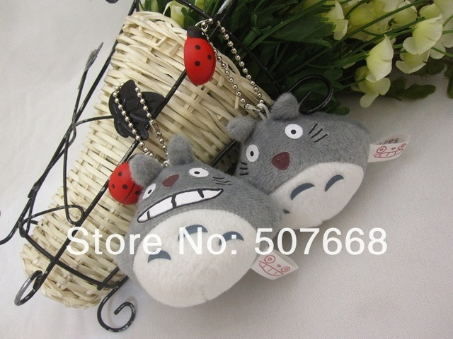 Totoro Plush Mobile Phone chain backpack straps 8CM