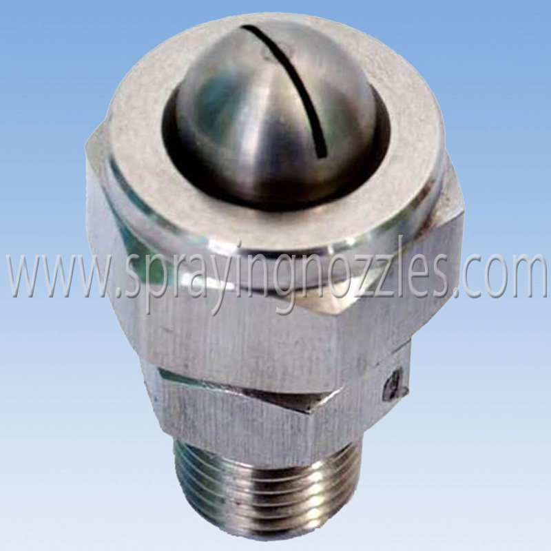 Stainless steel water steam air spray nozzle on