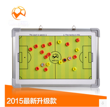 2015 latest magnetic football/soccer coaching board football tactics board soccer tactics plate whiteboard marker/pen Clipboard(China (Mainland))