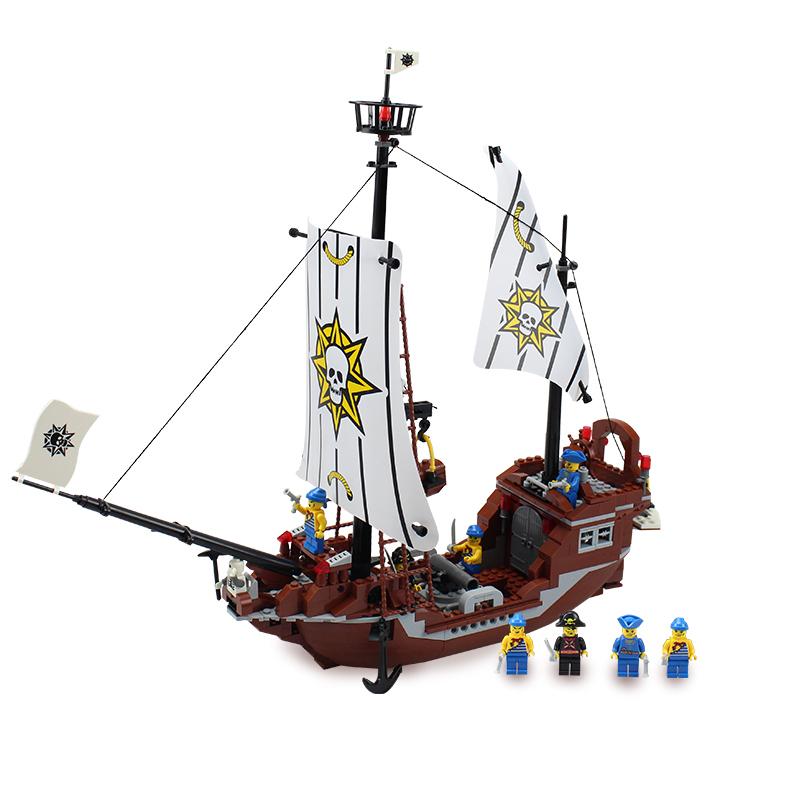 Educational toys building blocks set Compatible with Lego Pirates series children's toys Revenge Pirates ship 30008