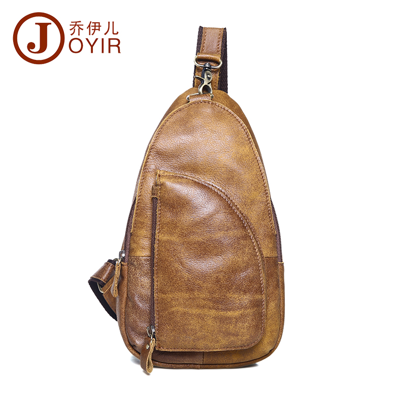 Nubuck Cow Leather Chest Pack Vintage Crossbody Shoulder Bag Outdoor Sport Small Chest Bag for Male Zipper Man Belt Bag 8383(China (Mainland))