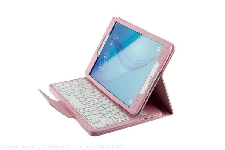 Removable Magnet Wireless Bluetooth Keyboard Leather Stand Protect Case Cover For For Samsung GALAXY Tab A 9.7 T550 9.7inch