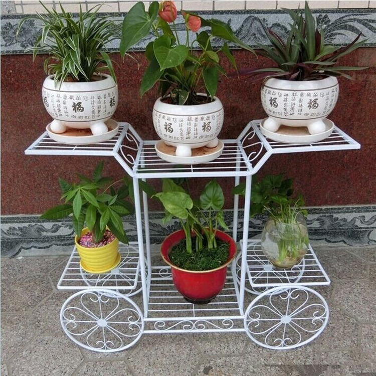 Creative outdoor multi moveable planter flower pot racks plant holder decorative outdoor metal - Flower pot stands metal ...