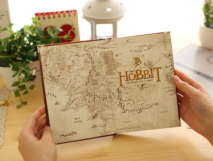 New Hobbit Notebook Vintage Hardcover Notebook for Gift Movie Hobbit Daily Memo Notepad Travel Journal A5 Size Four Designs3
