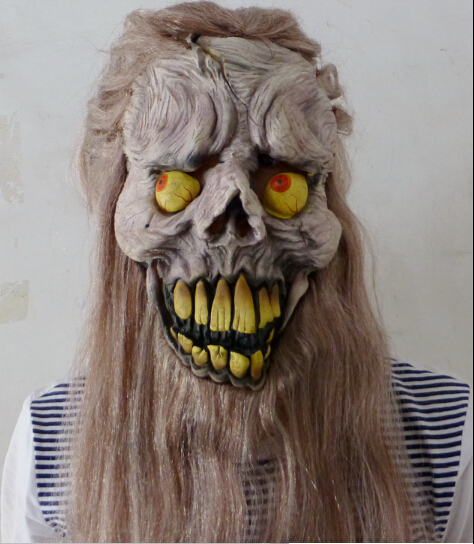 Latex Horror Ghost Full Face Halloween Party Masks - Fashion Supplies store
