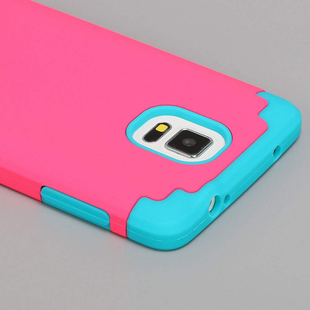 NEW Hard Bumper Soft Rubber Hybrid Case Skin Cover For Samsung Galaxy Note 4 Hot ON SALE For New Year Gift!Only Today!(China (Mainland))