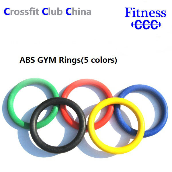 1 set (5 colors to choose)Fitness Equipment Crossfit Strength Training with Strap ABS Gym Rings(China (Mainland))