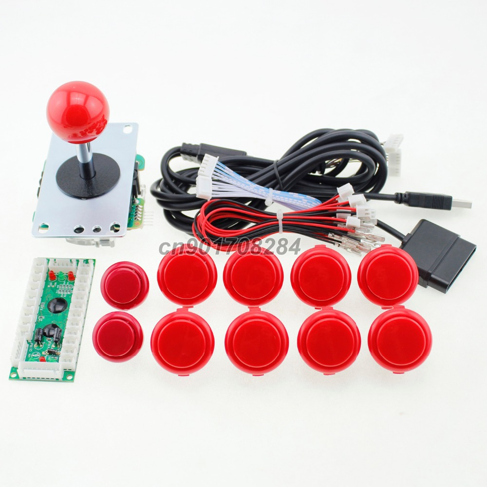 Arcade Joystick DIY Kit Parts USB Encoder To play station 2 3 PC + SANWA Push Buttons +SANWA Joystick For Arcade MAME JAMMA(China (Mainland))