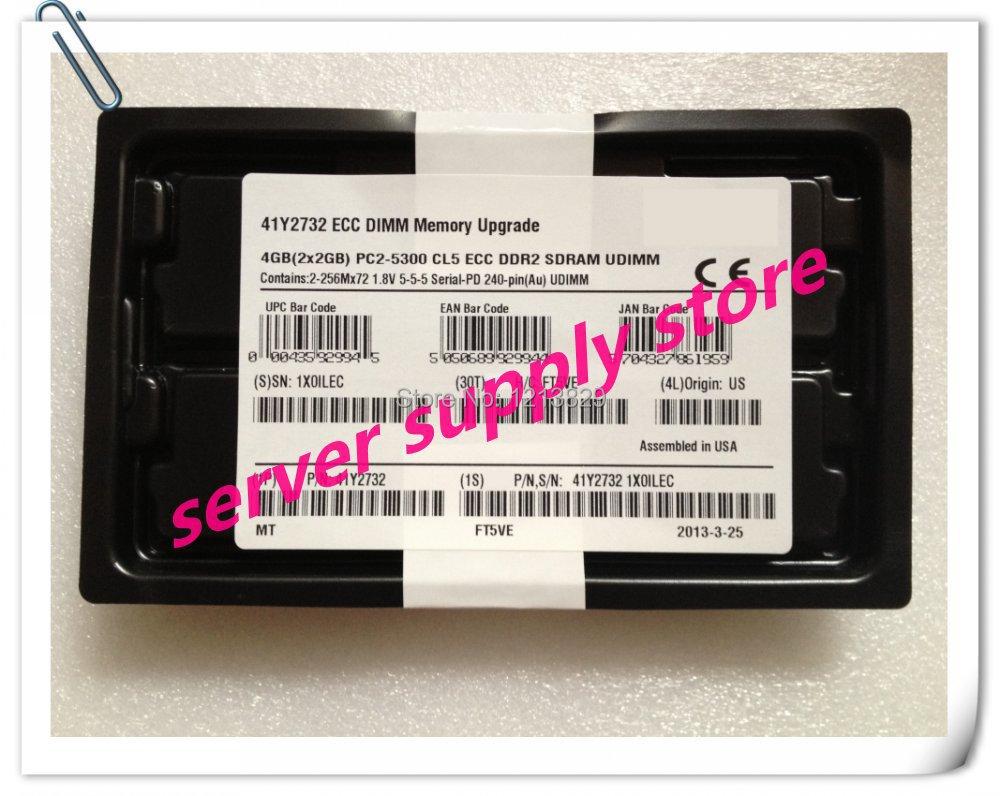 41Y2732 41Y2731 38L6047 4GB 2 X 2GB PC2-5300 667MHz 240 pin DDR2 SDRAM ECC DIMM, New Retail, 1 yr warranty(China (Mainland))