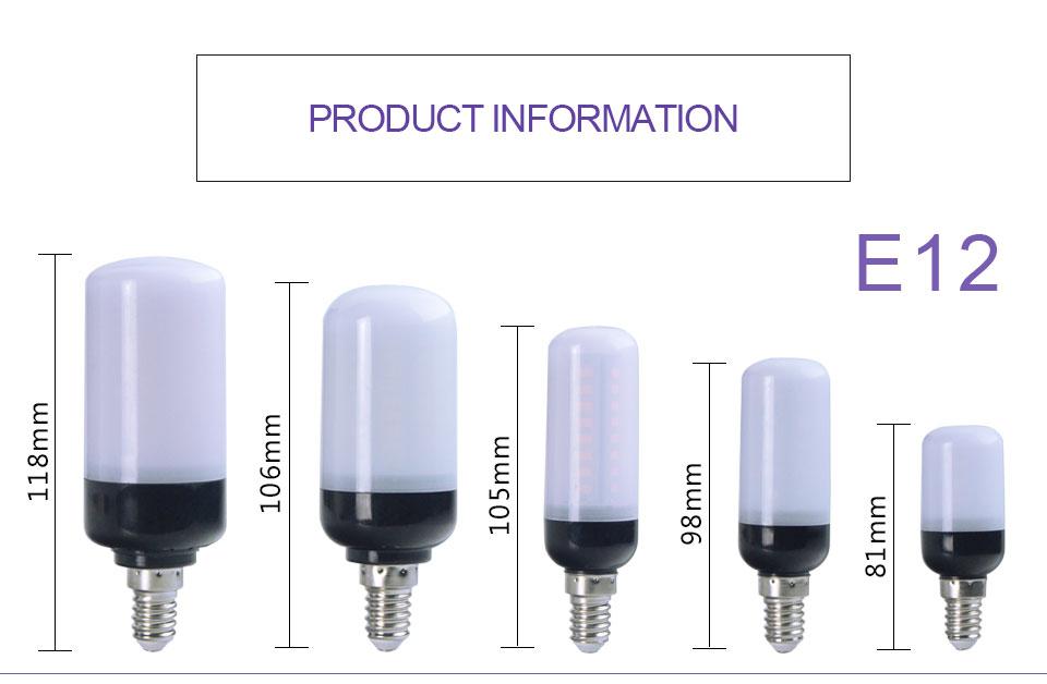 E12 E26 E27 LED Diode lamp (8)