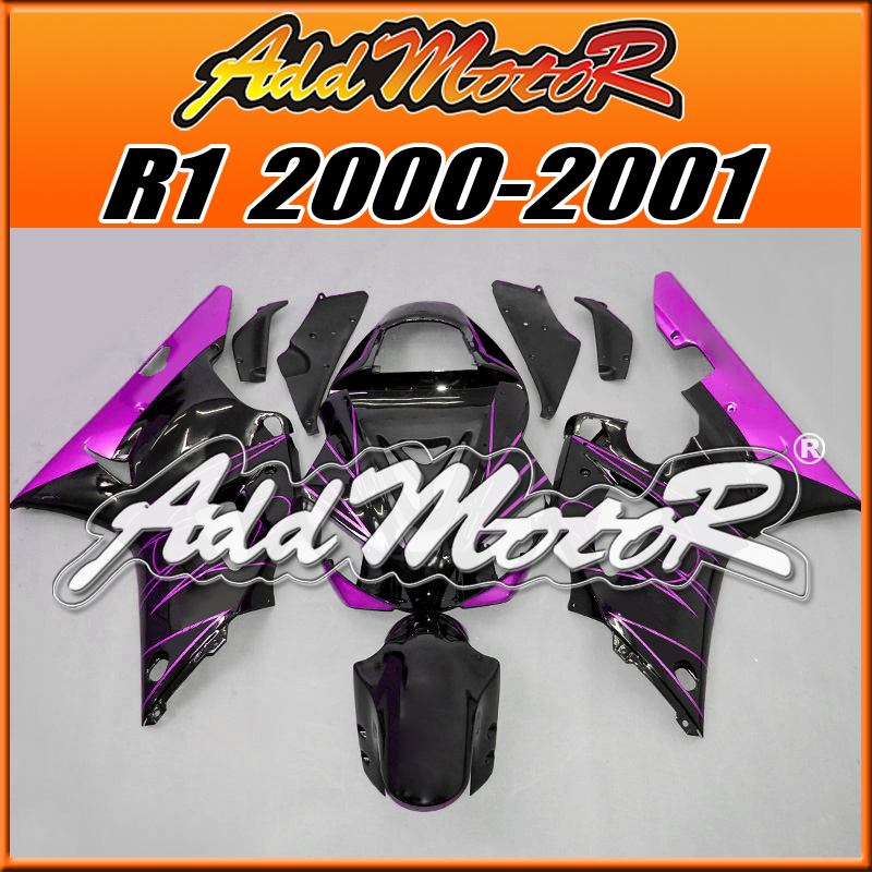 Мото обвесы Motorcycle Fairing Bodywork Addmotor Yamaha YZF/R1 00 01 YZF R1 2000 2001 Y1019 custom cheap injection fairings for yamaha yzf r1 2002 2003 fairing kit yzfr1 02 03 yzf r1 full black abs plastic parts