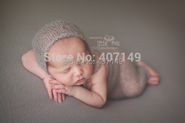 Clearance Newborn Hand Knit Mohair Baby Bonnet Angola Mohair baby Props Newborn Baby Photography Props(China (Mainland))