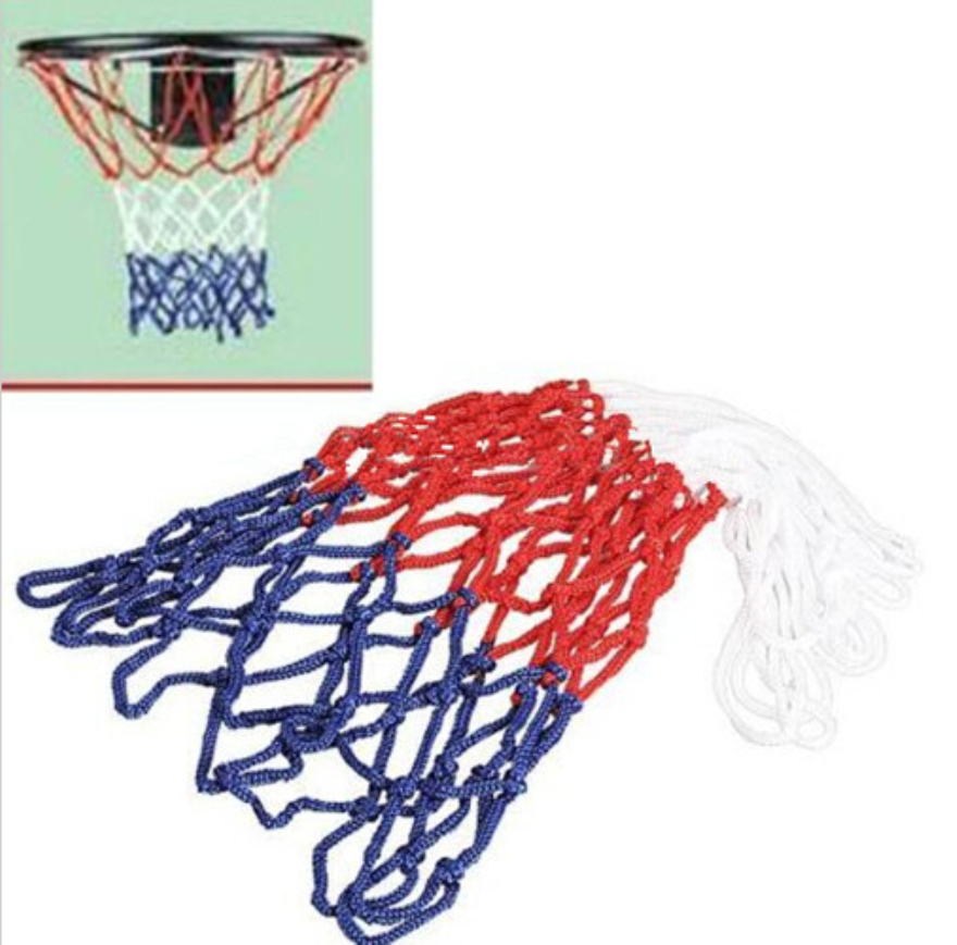 Professional New Red White Blue Basketball Net Nylon Hoop Goal Rim Mesh Net High Quality 1 PC(China (Mainland))
