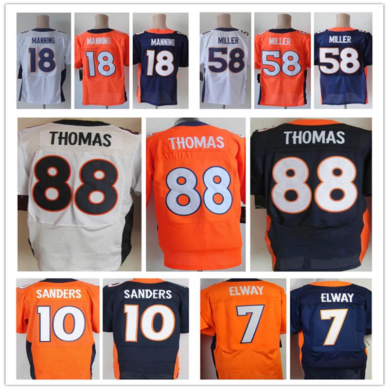 Cheap Sale Mens Elite 18 Peyton Manning Jersey 58Von Miller 88 Demaryius Thomas Jersey,Size:M-3XL,Best quality,Accept Mix Order<br><br>Aliexpress
