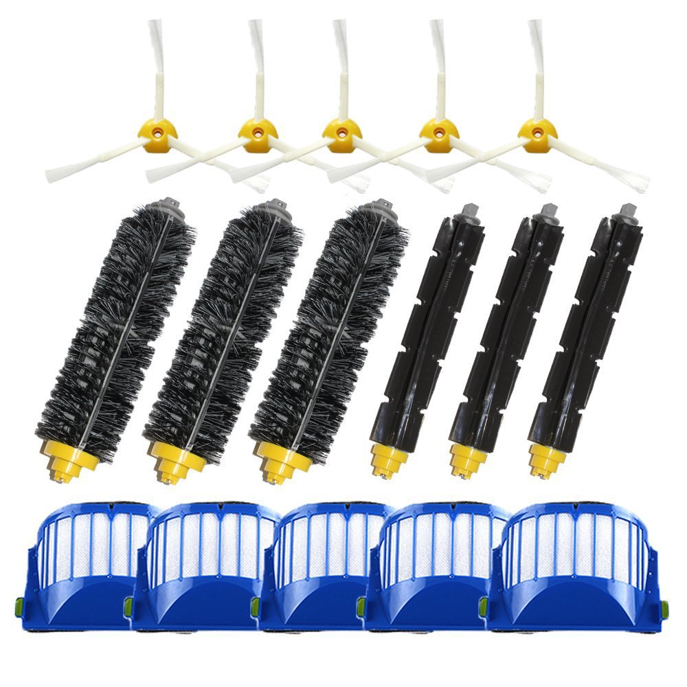 Filters and Brushes Replacement Kit for iRobot Roomba 500 600 Series (585 595 620 630 650 660 680 690) Vacuum Cleaning Robots(China (Mainland))