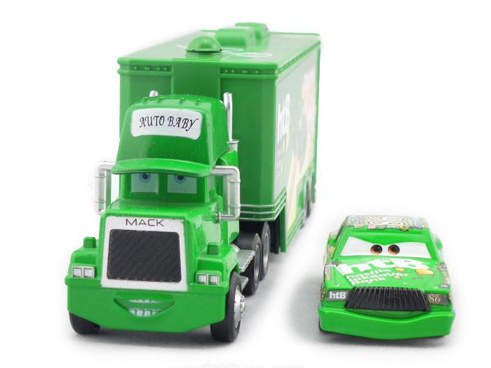 Pixar Cars CHICK HICK #86 & MACK Superliner Truck Diecast Metal UNCLE MACK CARS(China (Mainland))
