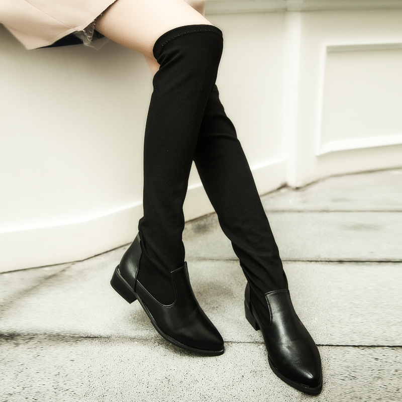 thin leg skin repair s boots low heel knee boots